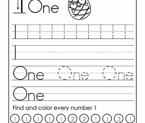 Number Words Tracing Worksheets 2