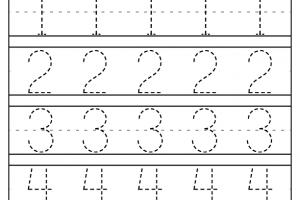 Trace Number Worksheets 6