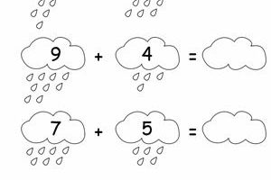 Adding Numbers With Rain 8