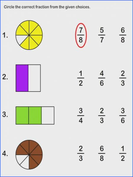 3rd Grade Fraction Worksheets | Worksheet School