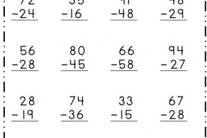 2- Digit Subtraction 5