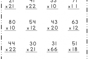 2-Digit Multiplication 6